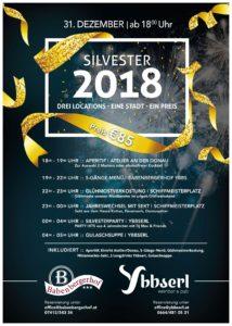 Silvester 2018 - Drei Locations - Eine Stadt - Ein Preis