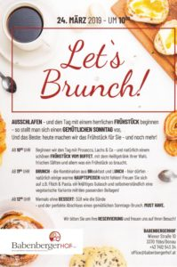 LET´S BRUNCH! @ Babenbergerhof