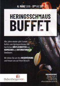 HERINGSSCHMAUS - Buffet