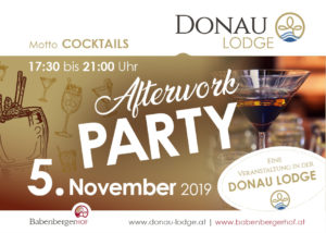 AFTER WORK PARTY DONAU LODGE