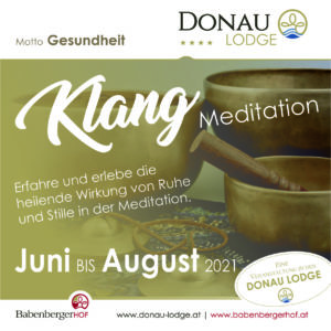 Klangschalen Meditation in der Donau Lodge